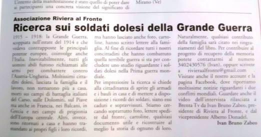 """L'articolo tratto da """"Dolosport"""" dell'1 giugno 2014."""