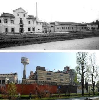 Confronto ieri (1917) ed oggi (2015) dello stesso sito.