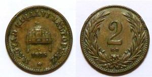 Esemplare di moneta da 2 Fille austro-ungarici simile a quella rinvenuta dal sig. Penazzo.