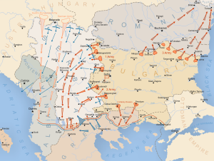 Invasioni del suolo serbo da parte degli eserciti austro-ungarico, tedesco e bulgaro nel 1915. Fonte: https://goo.gl/UFEjXR