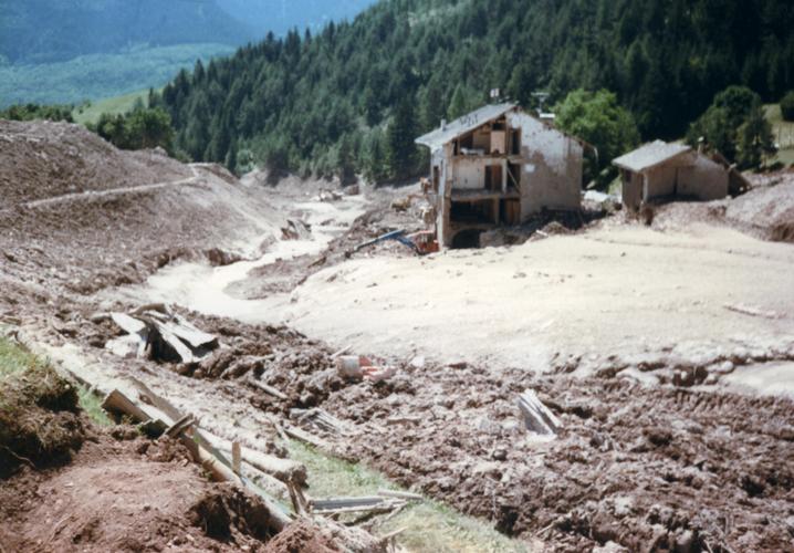 La Val di Stava poco dopo il disastro (1985)