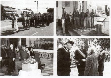 Momenti della cerimonia di traslazione della salma nel Comune di Vigonovo